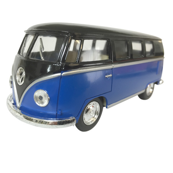 "1962 VW Kombi diecast 5""- Black top - BLUE"