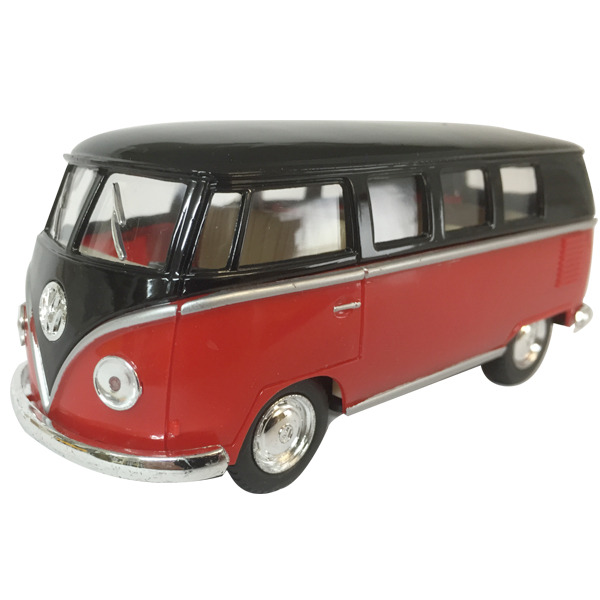 "1962 VW Kombi diecast 5""- Black top - RED"