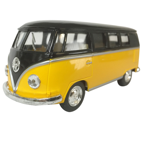 "1962 VW Kombi diecast 5""- Black top - YELLOW"