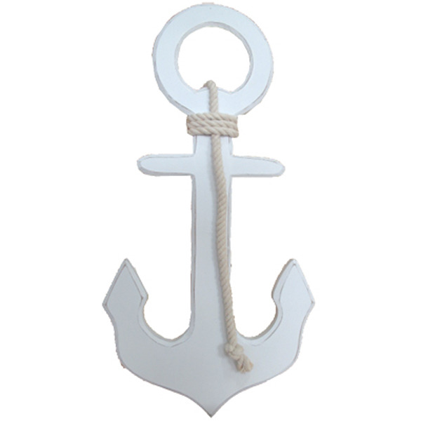 Anchor with Rope - White