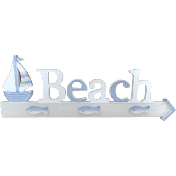 Beach Plaque w sailboat 56cm
