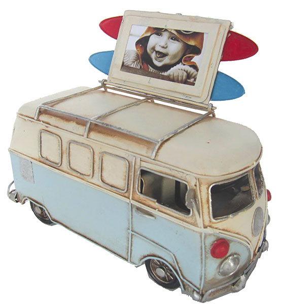 Blue Kombi Photo frame and Money box Blue - 20.5cm