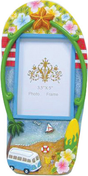 Blue Old Hippie Van Thong Photo Frame