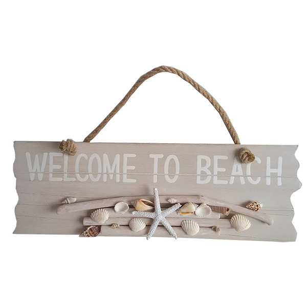 Driftwood welcome to Beach sign 39cm