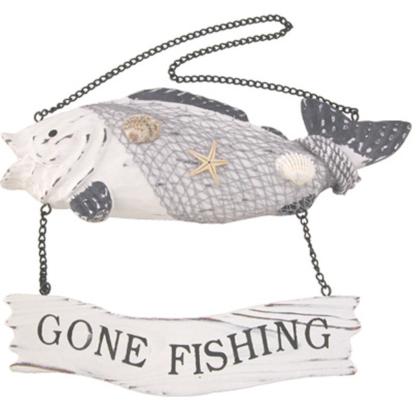 Fishy Gone Fishing Sign