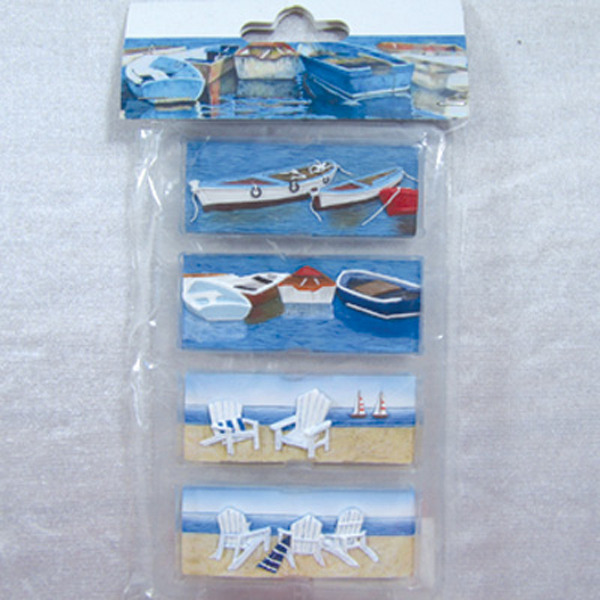 Fridge Magnet (S4) - Boats & Airondack Chair 7x4cm