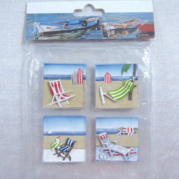 Fridge Magnet (S4) - Deck Chairs 44x44cm