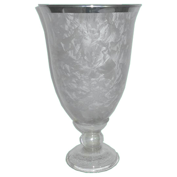 Frosted Glass Goblet/Candle holder Large 27x16cm