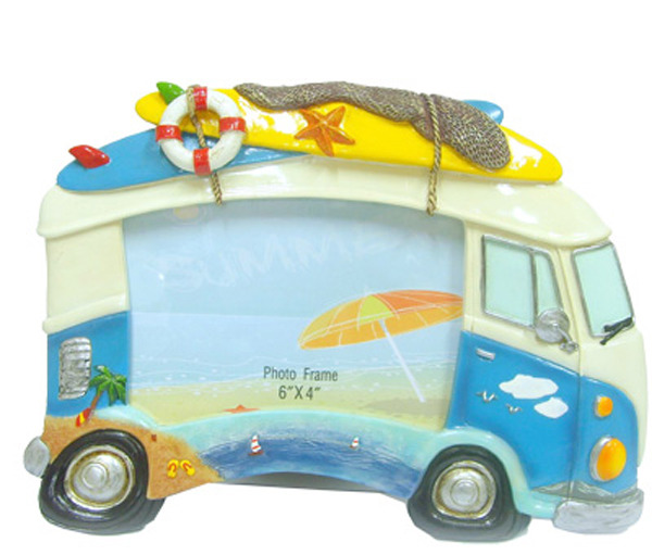 Hippie Van Photo Frame - Blue - Large standing
