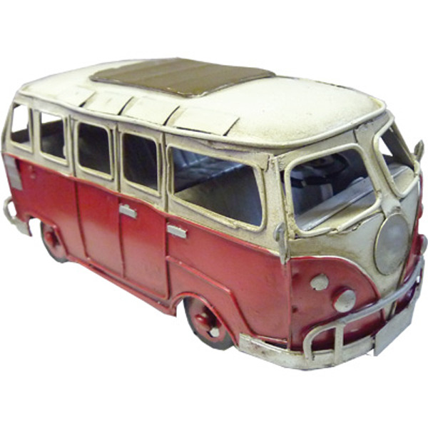 Hippie Van - Red Small - Handmade Metal