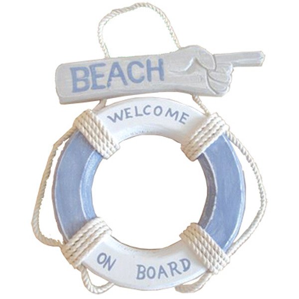 LifeBuoy Beach Welcome on board sign 34cm
