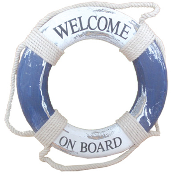 Lifebuoy Welcome On Board Plaque 32cm
