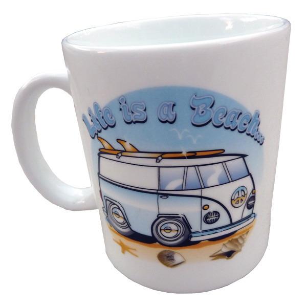 Mug Hippie Van blue - Life is a Beach