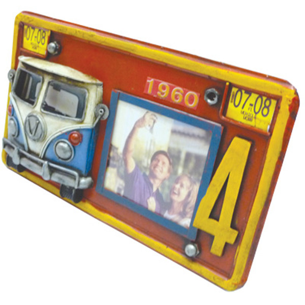 Old Hippie Van Number Plate Photo frame 265cm