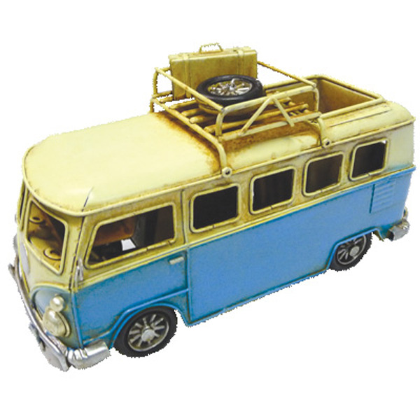 Old Hippie Van Pen Holder Blue 20cm