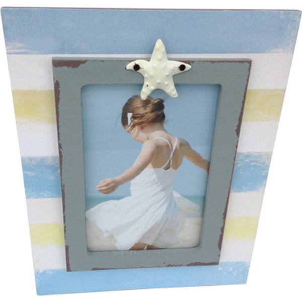 Photo frame Standing starfish 6x4 life is a Beach series