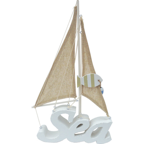 Sail Boat made of Sea sign