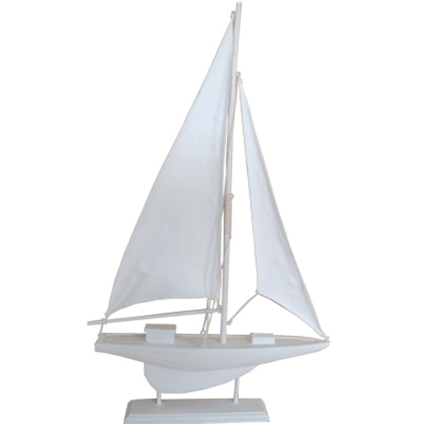 Sailing Yacht White with white sails