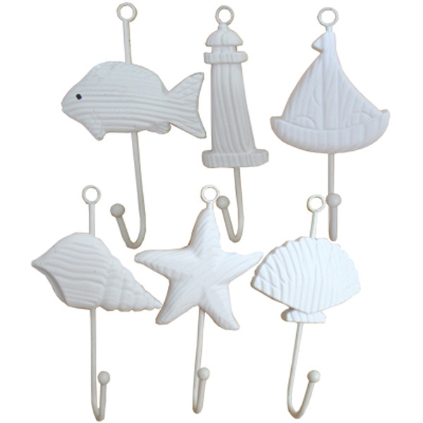 Sealife Wall Hooks Sailboat 19cm
