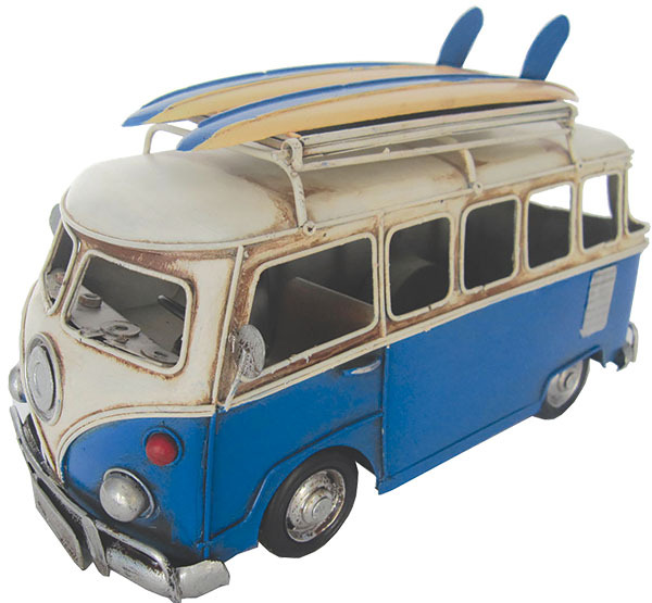VW Kombi Flip up Frame Dark Blue 28cm - Metal