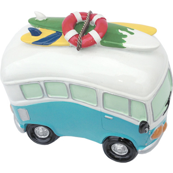 Van Money Box with Beach Gear - Mid size Blue 192cm