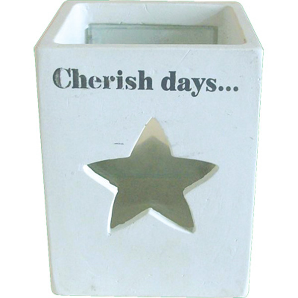 White Candle Votive - Star Cherish Days 125x95cm
