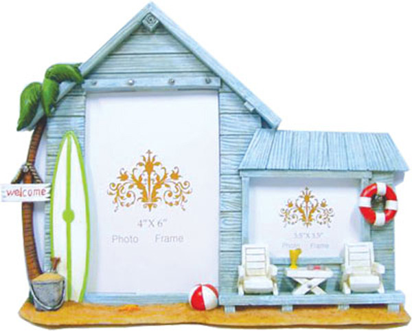 Beach Hut Twin Frame with Surf Boards