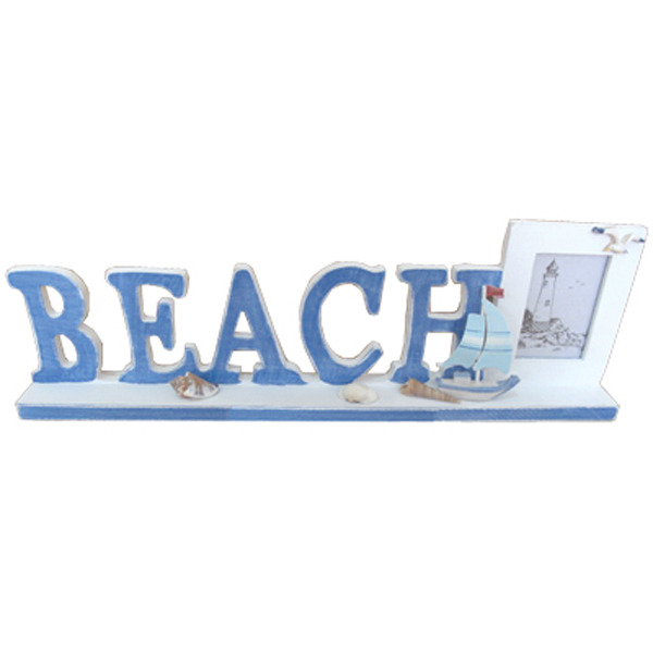 Beach Letter sign with Photo frame 36cm