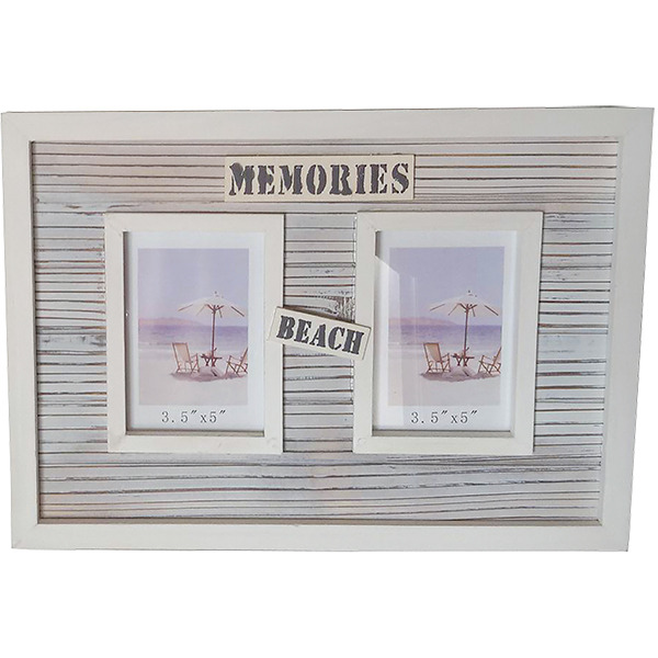 Beach Memories twin photo frame