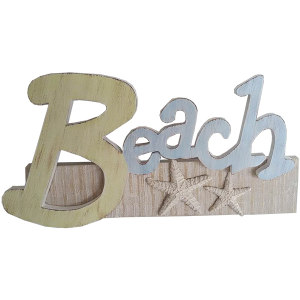 Beach Sign with Starfish 29cm