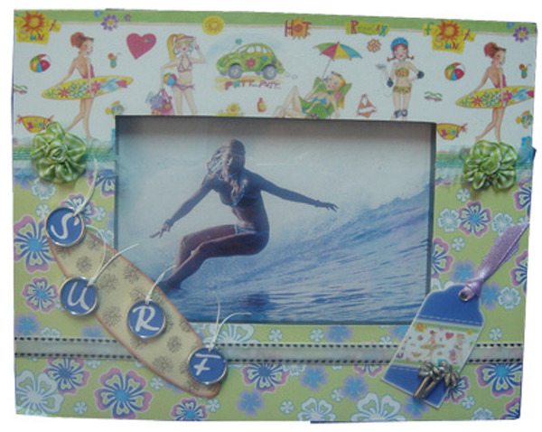 Beachlife Photo Frame - 3D Surfy Chick (15x10)