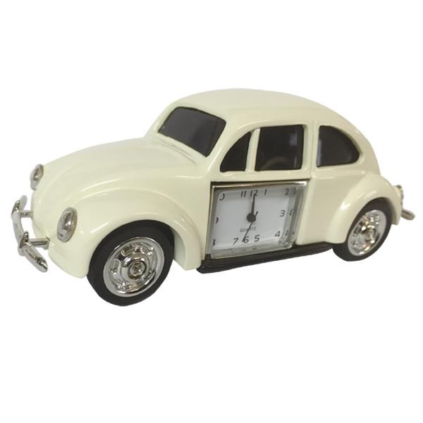 Desktop bug with clock watch - cream