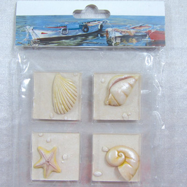 Fridge Magnet (Set of 4) - Shells 44x44cm