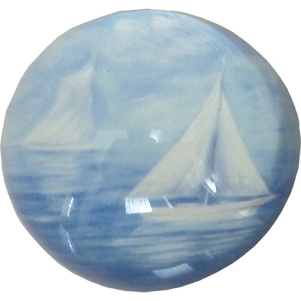 Glass Paperweight - Sailing 8cm