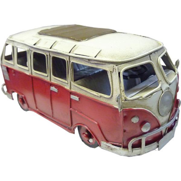 Hippie Van - Red Small - Handmade Metal
