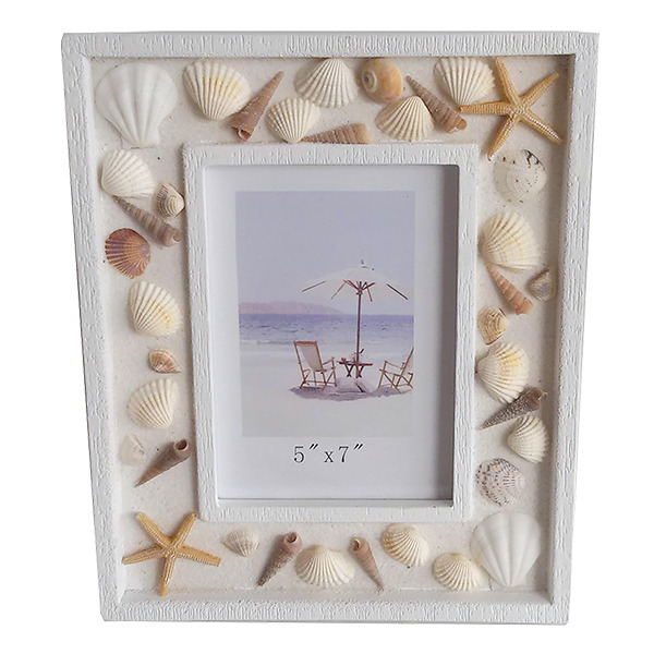 Shell Covered photo frame 5x7 28cm