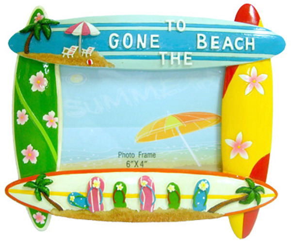 Surfy Stuff - Gone To The Beach Photo Frame w Surfboards
