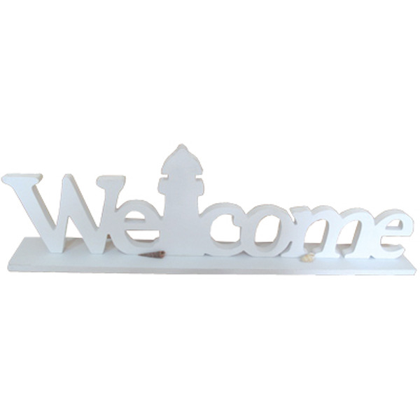 Welcome Sign w Lighthouse 49cm