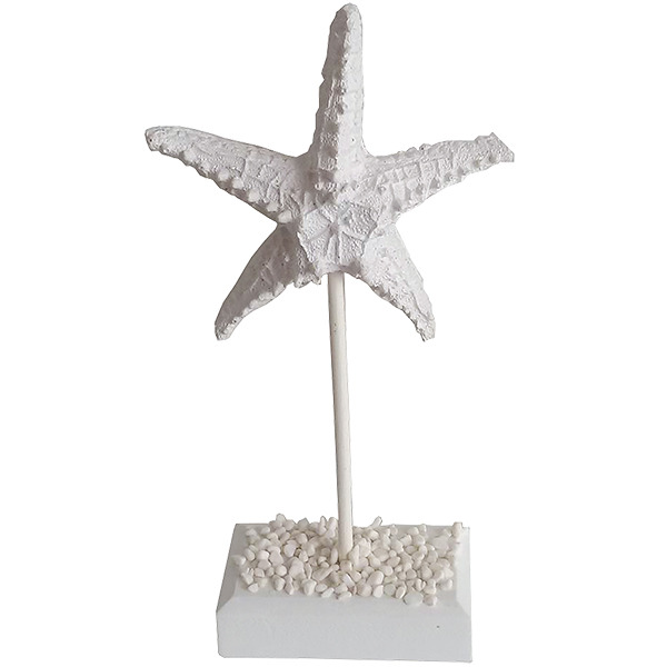 White Starfish on a stand 24cm