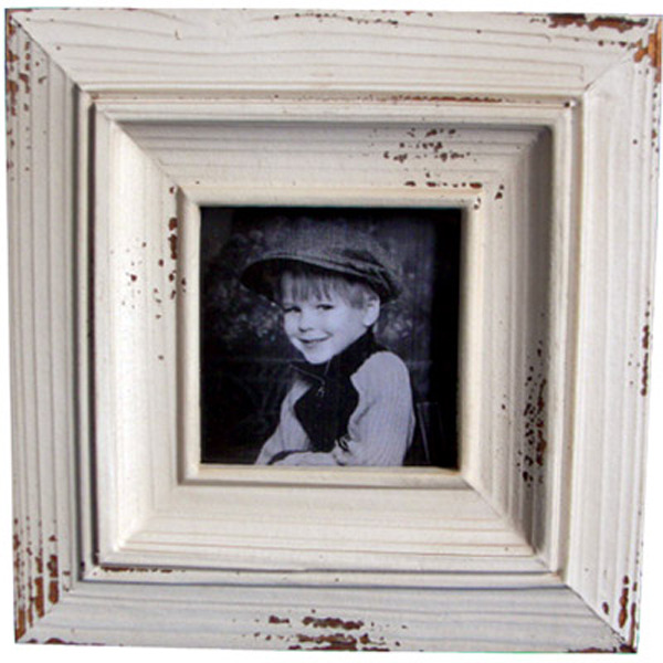 White Wooden Photo frame 20cm