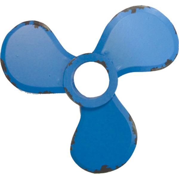 Wooden Propeller Decoration- Retro Blue 34cm